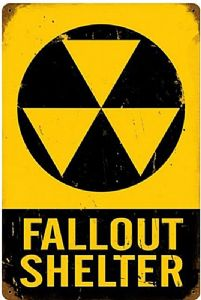 Fallout Shelter large rusted steel sign   460mm x 300mm   (pst 1812) (1)